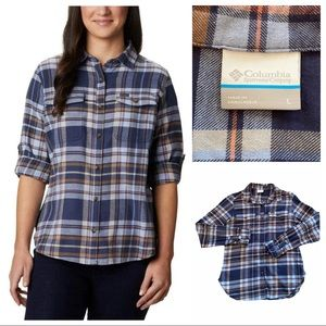 Columbia Pine Street Stretch Flannel Button Down